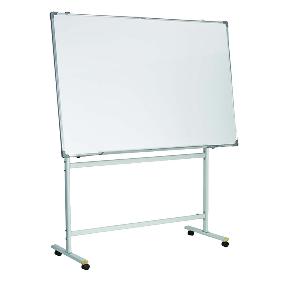 Porcelain Steel Surfaces Mobile Reversible Whiteboard