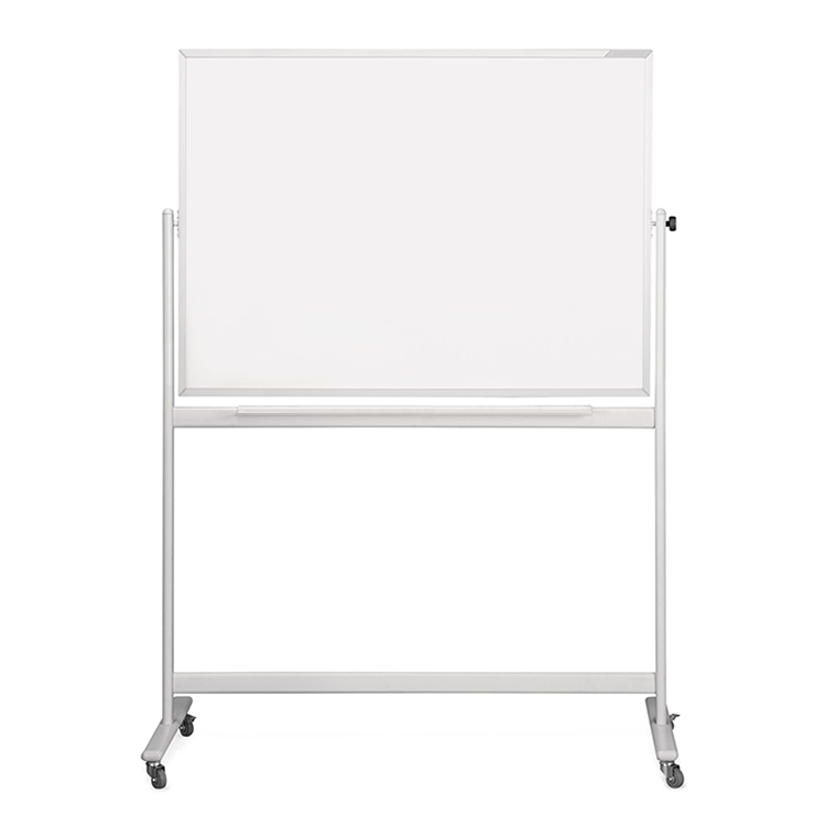 Sturdy Dry Wipe Double-Sided Rolling Whiteboard
