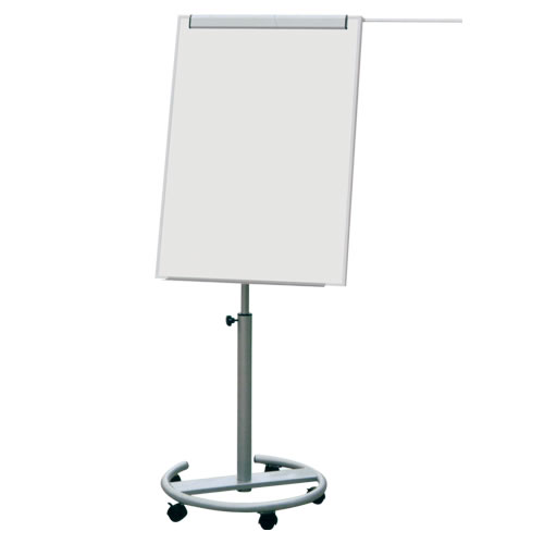 28x40 Inches Mobile Flipchart Easel with Enamel Whiteboard