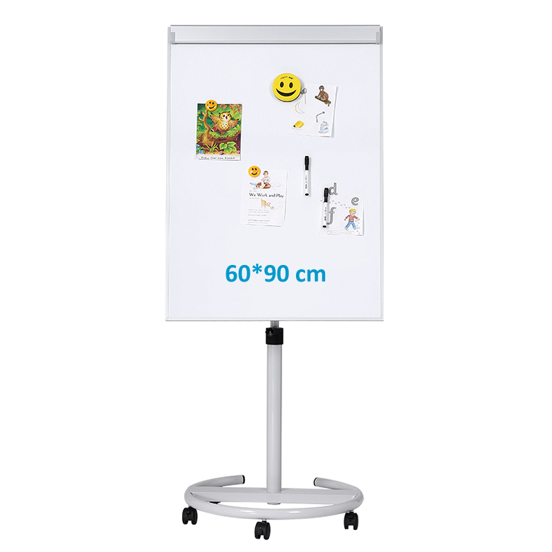 60 90 cm Height Adjustable Movable Flip Chart