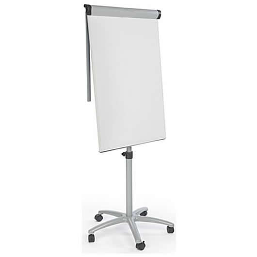 Flip Chart Whiteboard with 5 Rolling Casters
