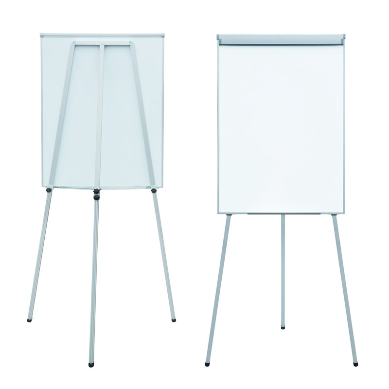 Flipchart Dry Erase Magnetic Triangle Whiteboard Stand