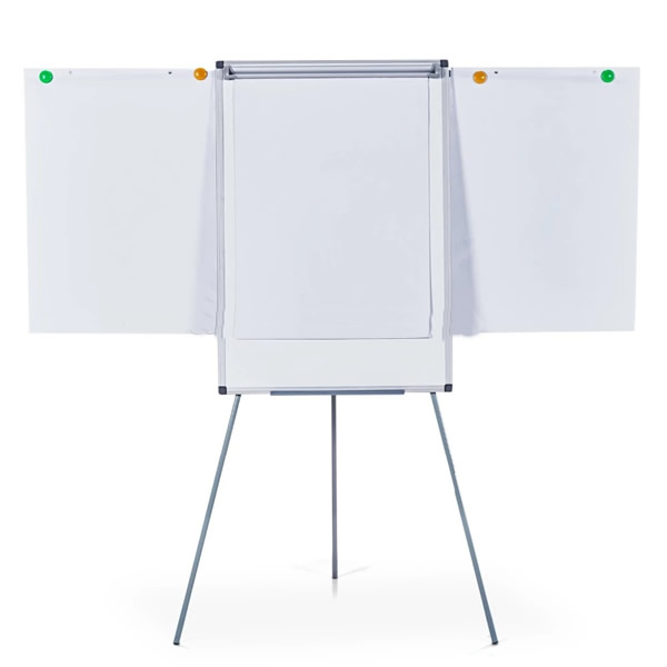 Magnetic Flip Chart White Board with Pad Holder