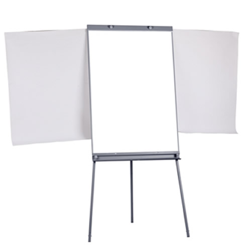 Tripod Double Sides Flipchart Whiteboard with Retractable Arms Easel Stand