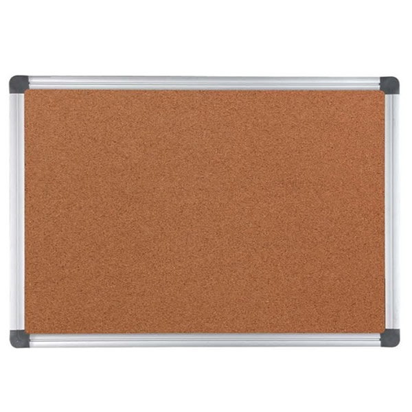 Aluminum Finish Frame Cork Sheet Board