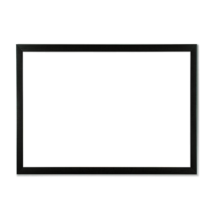 Magnetic Dry Erase Board with Black Wood Frame