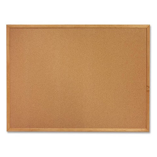 Natural Cork Bulletin Board Oak Wood Frame