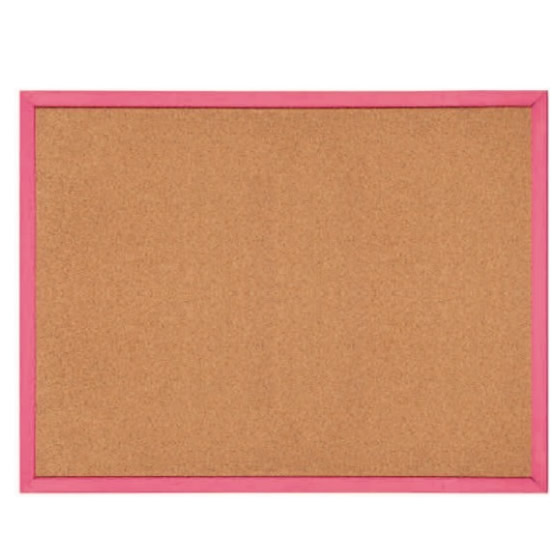 Red Wooden Frame Notice Pin Board