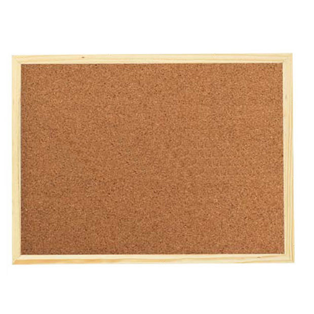Wood Frame Bulletin Corkboard