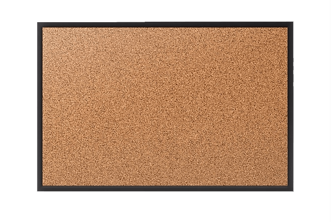 Black Aluminum Frame Cork Bulletin Board