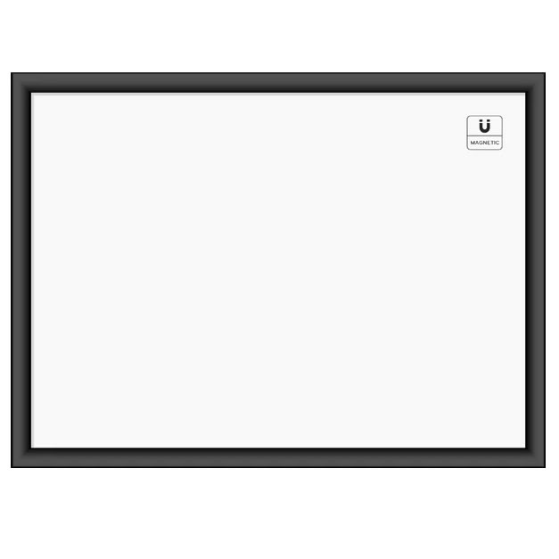 Black Sturdy MDF Frame Whiteboard