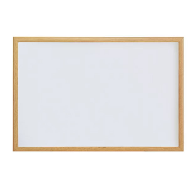 Oak Wood Framed Dry-Erase Whiteboard Wall Mounted