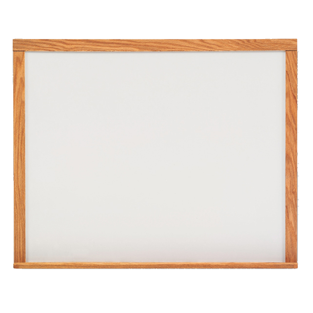 Solid Oak Trim Wall Mounted Dry-Erase Board