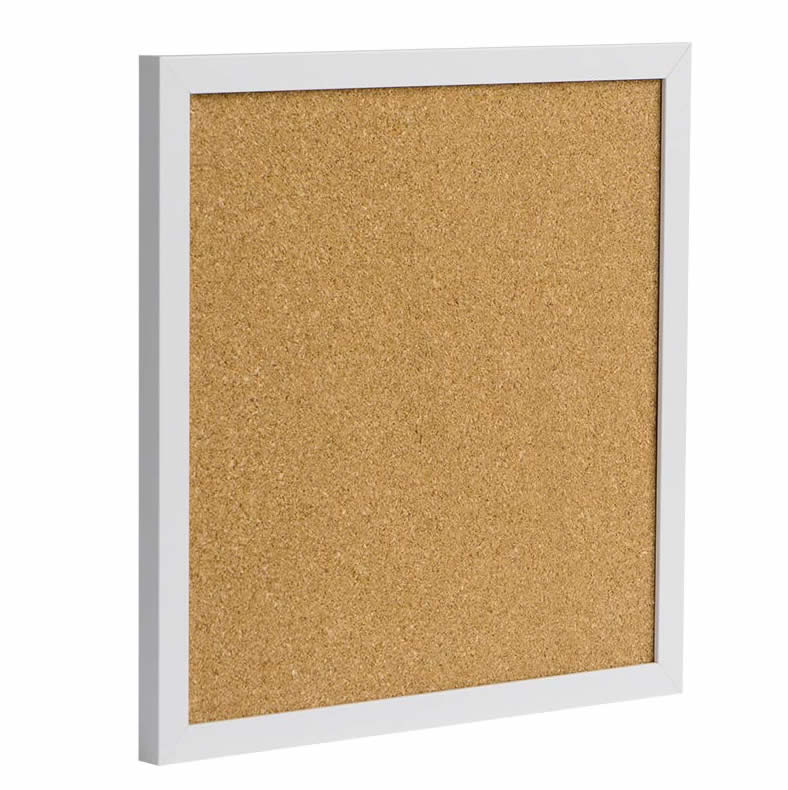 White Framed Cork Board