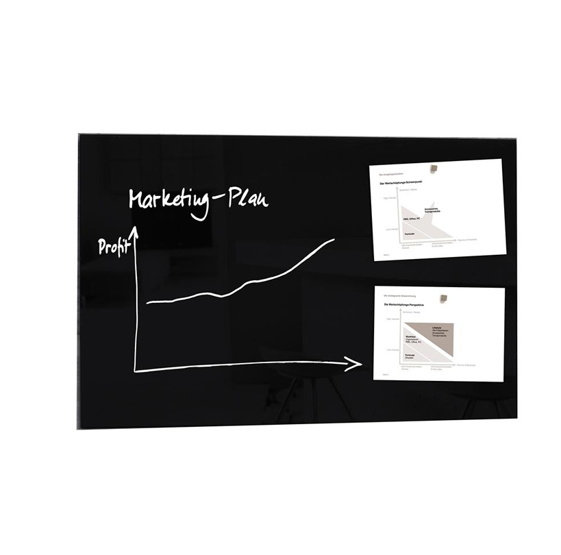 High Quality Tempered Glass Magnetic Board With Fixings