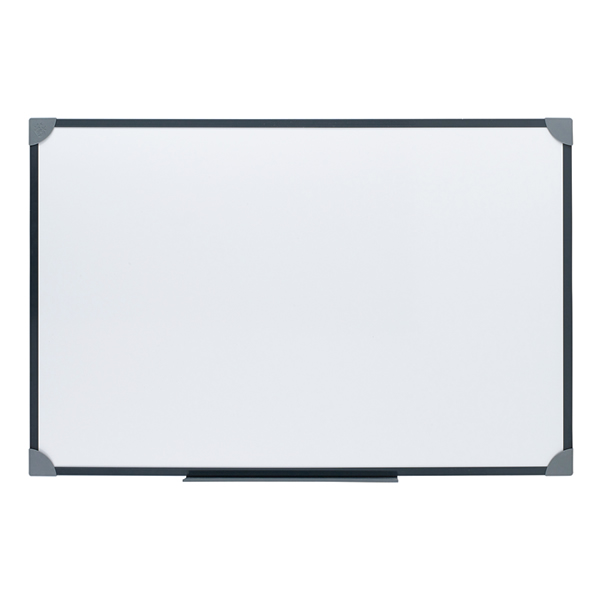 Office Magnetic Drywipe Boards Steel Trim with Detachable Pen Tray W900xH600mm