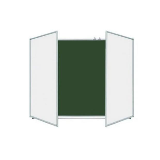 Two Wings Alu-framed Single Side Folding Chalkboard 1000X3000mm