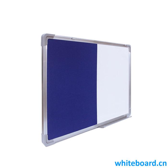 Anodized Aluminum Frame Half Dry Erase Whiteboard Felt Board