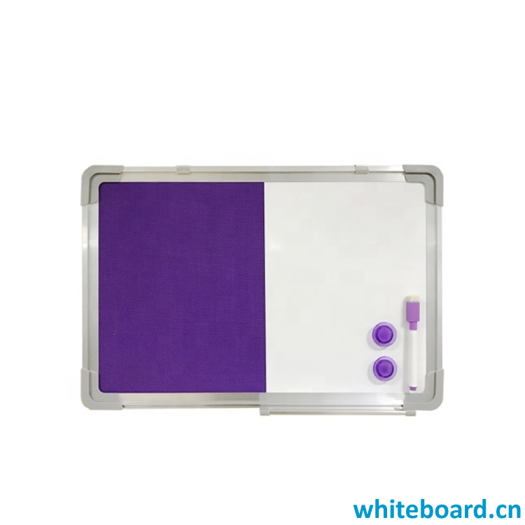 Magnetic Ultra Dry-Erase Blue Felt Bulletin Combo Board