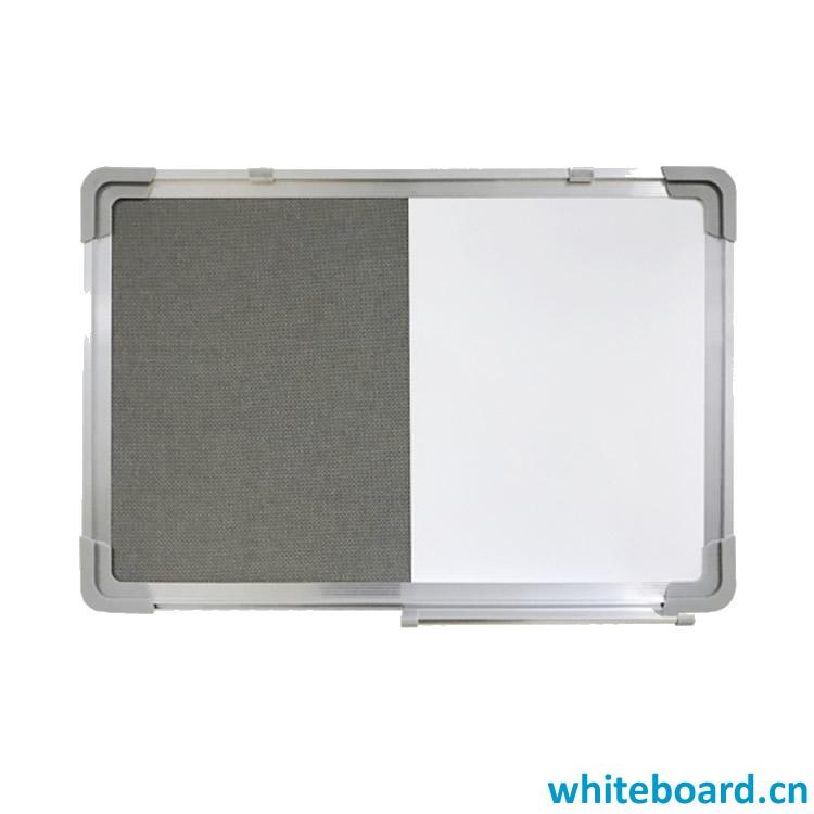 Whiteboard Felt Pin Board Combination with Marker Pen Tray & Hangers