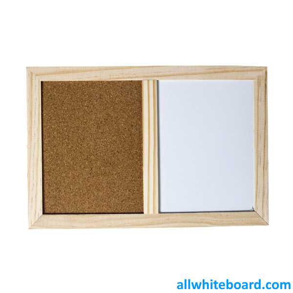 Small Combination Dry Erase Board with Half Natural Cork